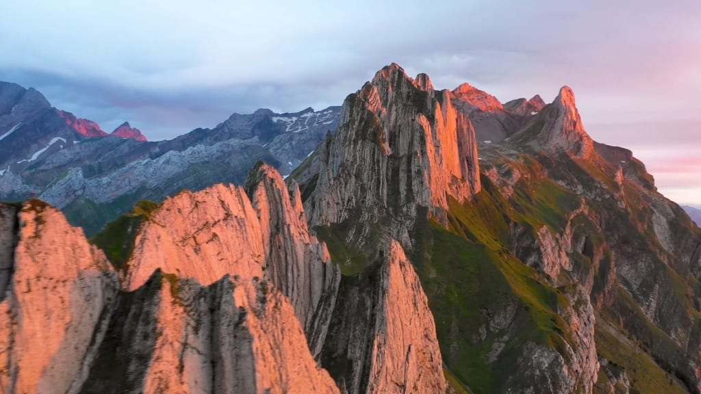 Mountains of Appenzel in Switzerland