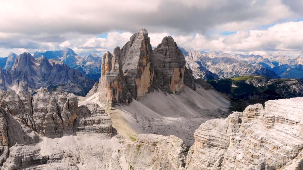 The Clime De Laredo mountain range of Dolomites
