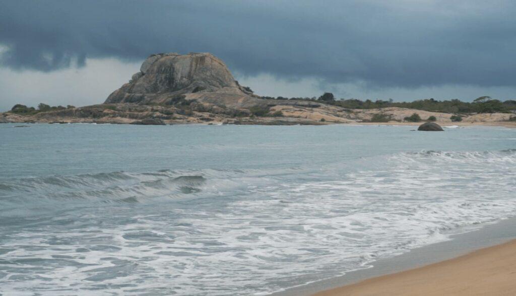 Elephant rock view from Yala National Park Beach